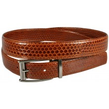Genuine snake leather belt 102SN Tan