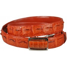 Genuine alligator leather belt 103CKB Tan