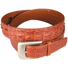 Genuine alligator leather belt 105CKP Tan