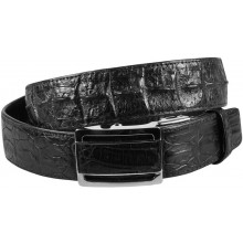Genuine alligator leather belt 105CKP-B Black