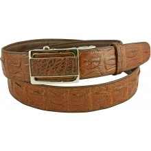 Genuine alligator leather belt 105CKP-B Brown