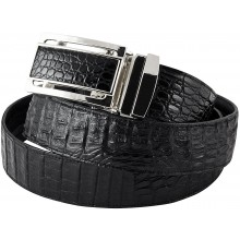 Genuine alligator leather belt 105CM2-B Black