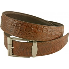 Genuine alligator leather belt 105CM2 Brown