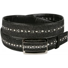 Genuine stingray leather belt 105KFB Black