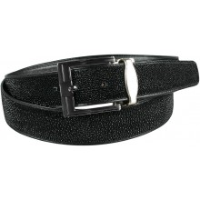 Genuine stingray leather belt 105RP Black