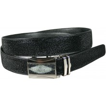 Genuine stingray leather belt 105RPB Black