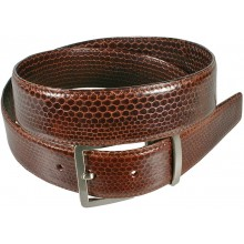 Genuine snake leather belt 105SN Brown
