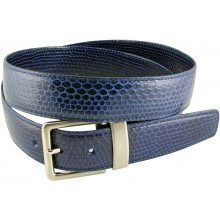 Genuine snake leather belt 105SN Midnight Blue