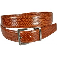 Genuine snake leather belt 105SN Tan