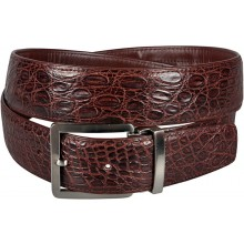 Genuine alligator leather belt 105SS Brown