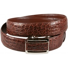 Genuine alligator leather belt 105SSB Brown