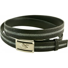 Genuine stingray leather belt 1216R Black