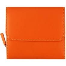 Genuine cow leather wallet 52-D Orange / MC