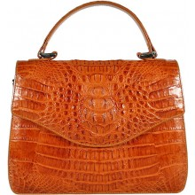 Genuine alligator leather bag 8805-11 Tan