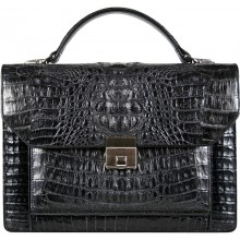 Genuine alligator leather briefcase 8829 Black
