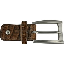 Alligator leather loop buckle ALBUCKLE01-13 Brown