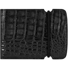Genuine alligator leather cash cover ALCCOV01BL Black