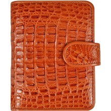 Genuine alligator leather wallet ALD122 Tan