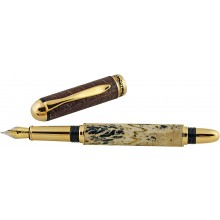 Alligator bone / leather fountain pen ALPEN01-GT Brown