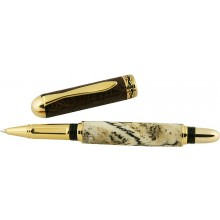 Alligator bone / leather rollerball pen ALPEN20-GT Brown