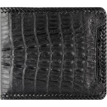 Genuine alligator leather wallet ALW06 Black
