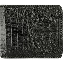 Genuine alligator leather wallet ALW07B Black