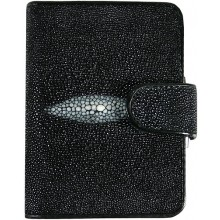 Genuine stingray leather wallet B012-01 Black