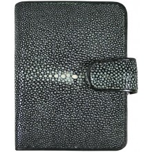 Genuine stingray leather wallet B012-01SA Black