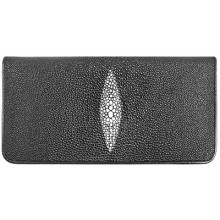 Genuine stingray leather wallet B028 Black