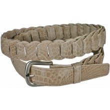Genuine crocodile leather belt B04104 Beige