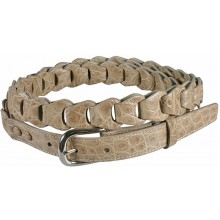 Genuine crocodile leather belt B04204 Beige