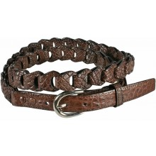 Genuine crocodile leather belt B04204 Brown