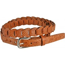 Genuine crocodile leather belt B04204 Safari