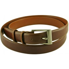 Genuine buffalo leather belt BBELT1-2 Brown