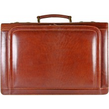 Genuine buffalo leather briefcase BBR100-G Brown