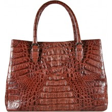 Genuine alligator leather bag BCM189 Brown