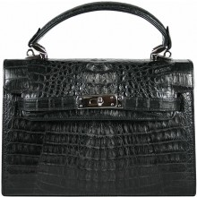 Genuine alligator leather bag BCM203 Black