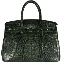 Genuine alligator leather bag BCM253 Black