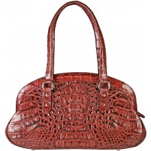 Genuine alligator leather bag BCM412 Burgundy