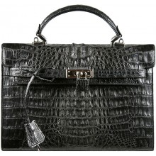 Genuine alligator leather bag BCM415 Black