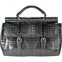 Genuine alligator leather bag / briefcase BCM547 Black