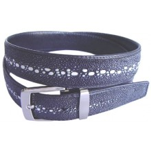 Genuine stingray leather belt 102KF Black