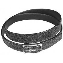 Genuine stingray leather belt 102RPB Black