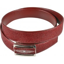 Genuine stingray leather belt 102RRB Burgundy