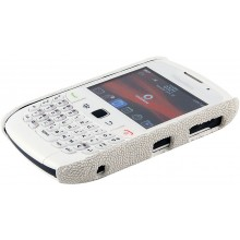 Genuine stingray leather BlackBerry case BLACKBERRY-CP01 White