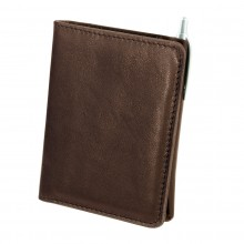 Premium cow leather handmade wallet EL-PM-2 Dark Brown