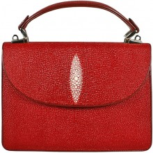 Genuine stingray leather bag BR116 Fire Red