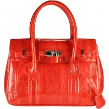 Genuine snake leather bag BSN295 Fire Red
