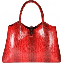 Genuine snake leather bag BSN68 Fire Red