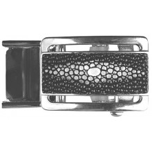 Genuine stingray leather automatic buckle STBUCKLE RP 1-2 Black